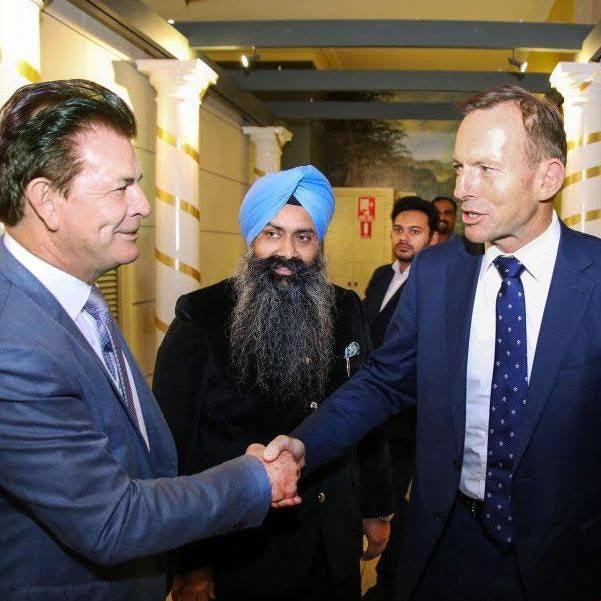Bruce Francis and Tony Abbott