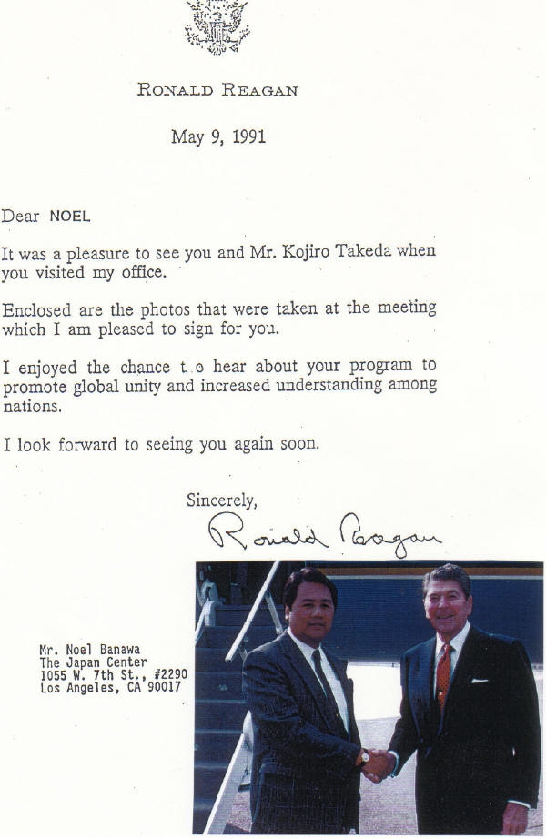 Picture with Letter from U.S. President Ronald Reagan