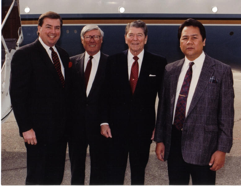 Picture with U.S.President Ronald Reagan, Ray Watt, & Kent Merselles